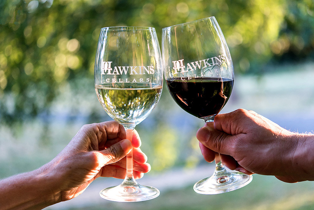 Dundee Oregon Wine Tasting at Hawkins Cellars