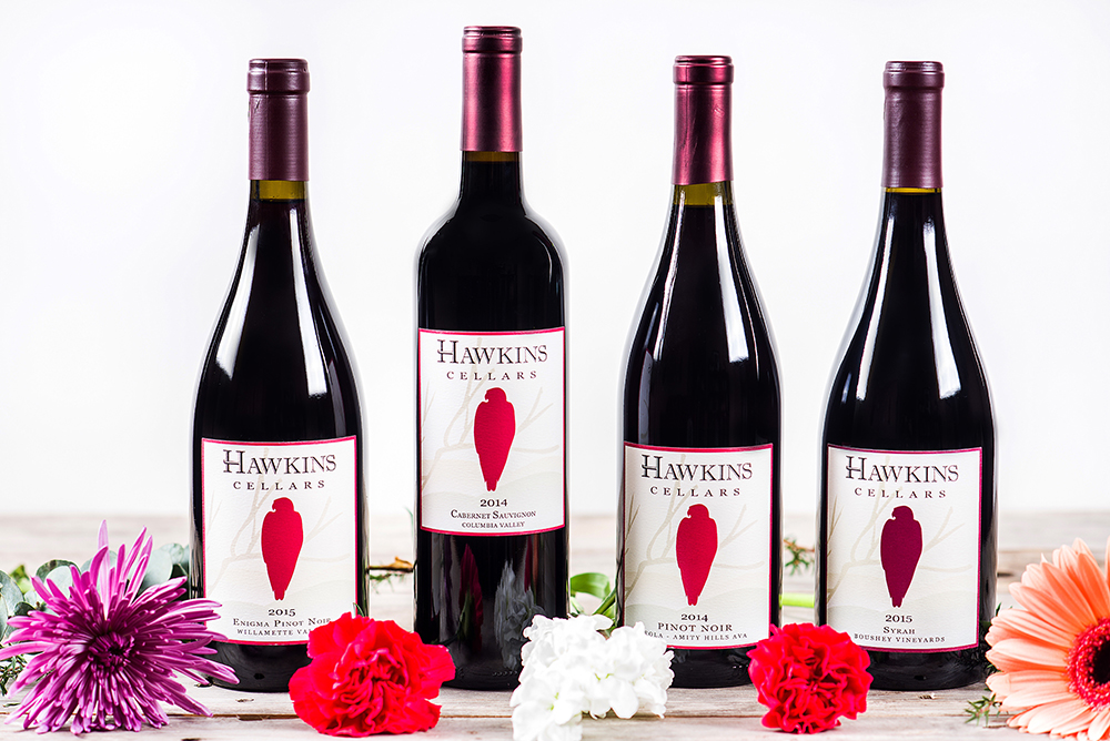Hawkins Cellars Bottles of wine from a Dundee Oregon Winery